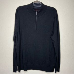 UNTUCKIT 1/4 Quarter Zip Wool Sweater XL Belguardo